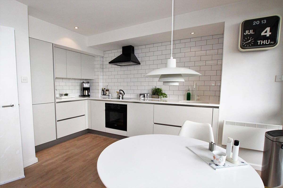 1. Small all white kitchen design | Qudaus Living, Sutton Coldfield