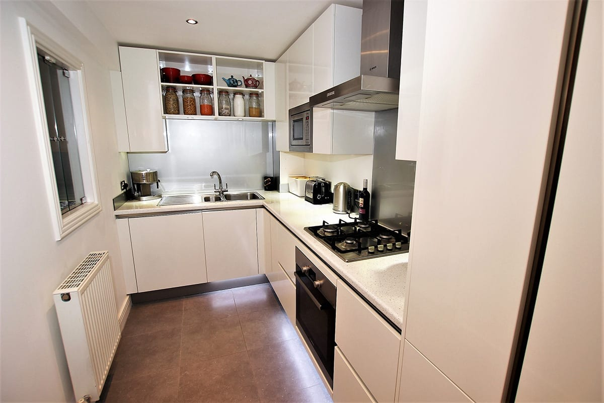2. Small white kitchen layout Copy | Qudaus Living, Sutton Coldfield