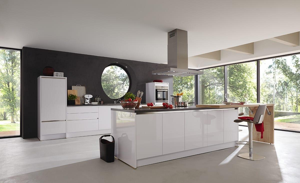 1.Polar white gloss lacquer laminate kitchen Copy 1200 | Qudaus Living, Sutton Coldfield