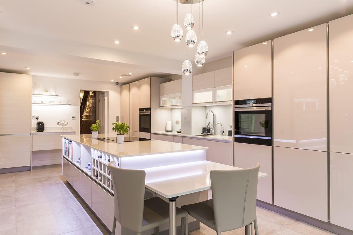 2. Cashmere gloss lacquer kitchen finish | Qudaus Living, Sutton Coldfield