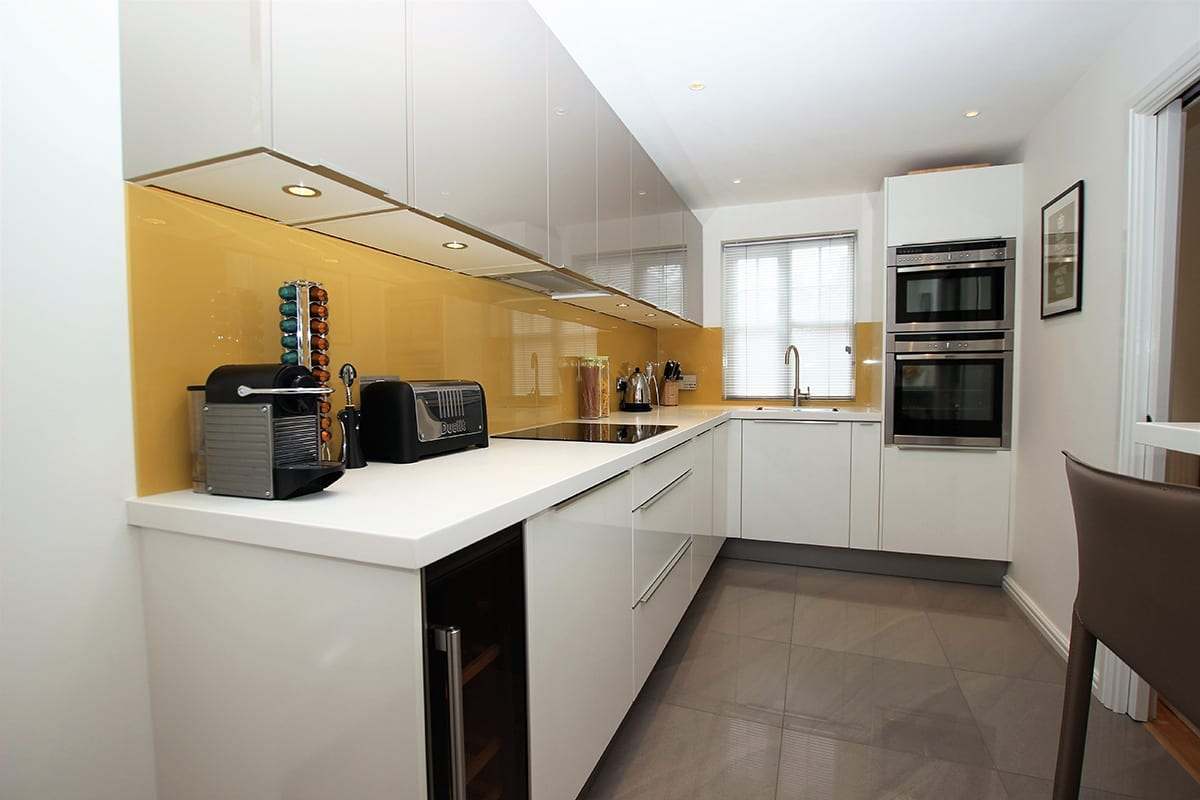 1. Two tone L shaped kitchen design | Qudaus Living, Sutton Coldfield